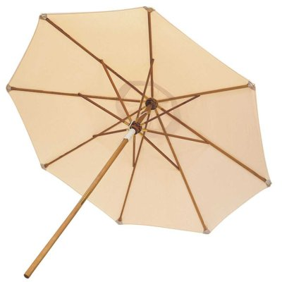 Royal Teak Collection 10 Foot White Market Umbrella – UMBW
