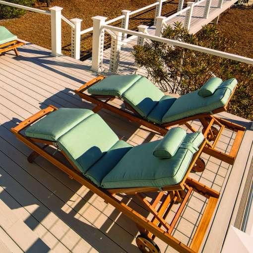 Royal Teak Collection Spa Sun Bed Cushion - CUSBSPA