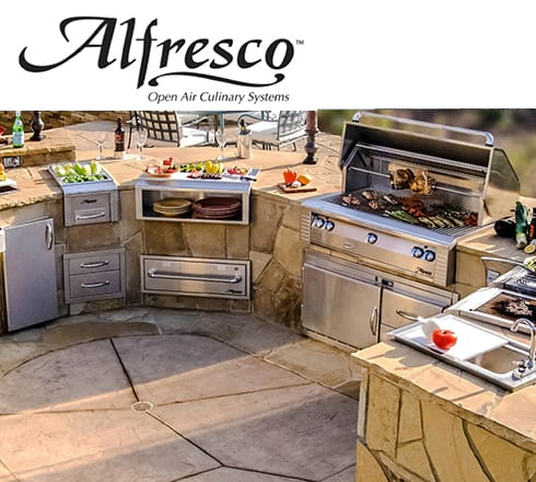alfresco grills at the outdoor store