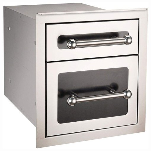 Fire Magic 14-Inch Black Double Access Drawer