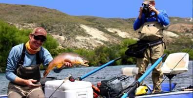Trout fishing near Bariloche