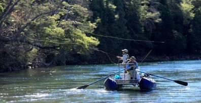 Catarafting down a Patagonian river