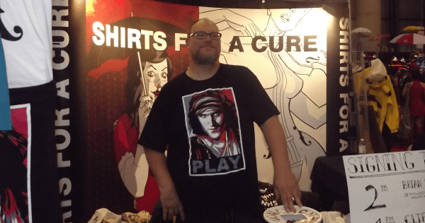 Mark Beemer Shirts for a cause at NYCC 2011