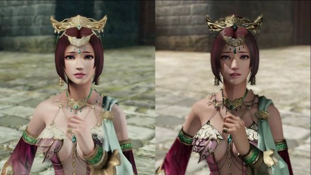 To the left PS3 graphics and to the right PS4. Just a few minor differences.