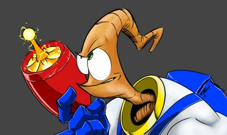 Earthworm Jim art by Andrew Froedge