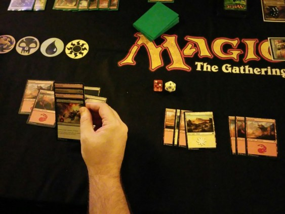 Lots of mana on the field, good cards in hand... Can't do anything