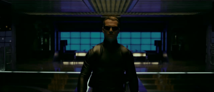 Wesker doing Wesker things... Probably involving throwing sunglasses like a boss