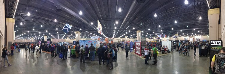 PAX Unplugged 2017 Expo Hall Panoramic - The Outerhaven