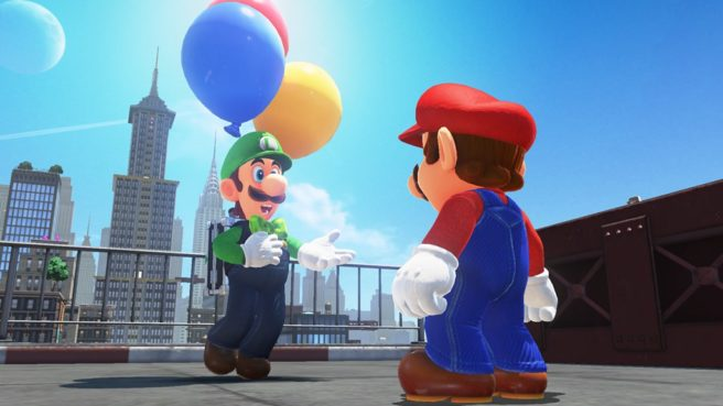 Luigi's Balloon World update for Super Mario Odyssey