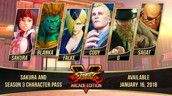 Street Fighter V Season 3 Character Pass