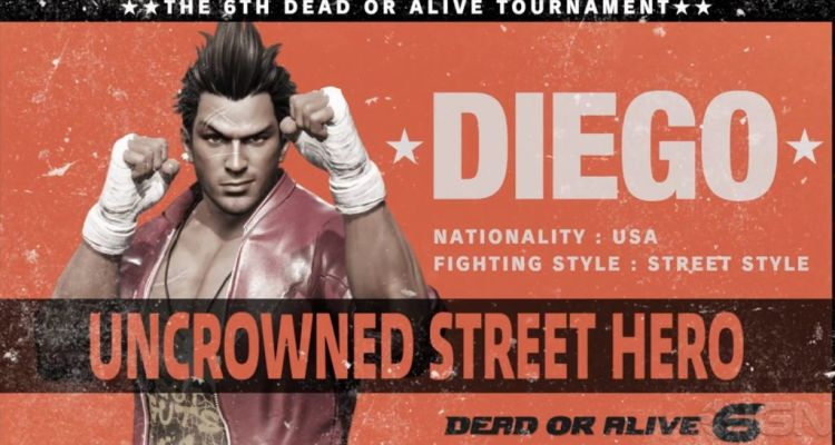 Diego announced for Dead or Alive 6.