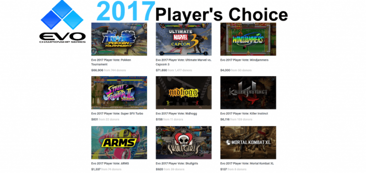 EVO 2017 players choice