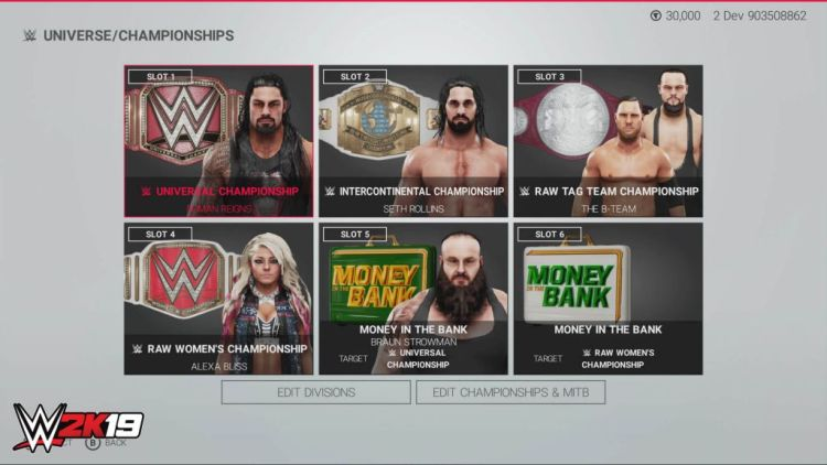 WWE 2K19 Six Champs
