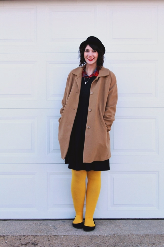 hannah rupp the outfit repeater vintage clothes plaid coat winter