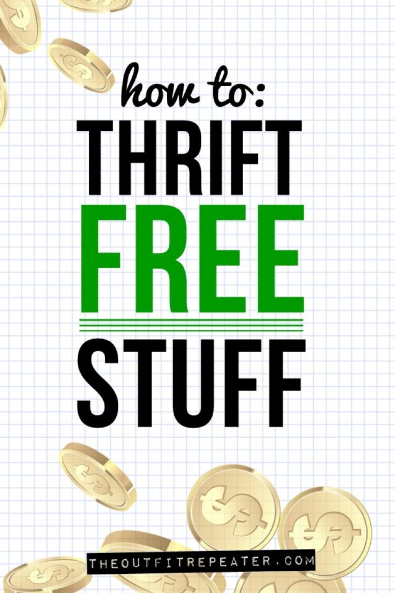 Where to find free clothes, how to thrift free clothes, and a thrift haul video.