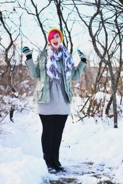 Color Meets Winter Wear
