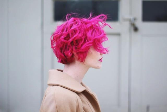 Shameless pink hair selfie