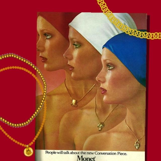 1976 Seventeen magazine advertising for Monet jewelry