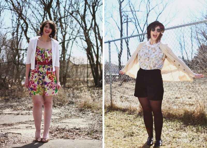 Spring Outfit Ideas inspiration floral feminine and preppy Easter dress