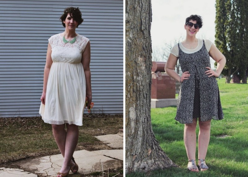 Spring Outfit Ideas White lace and floral dresses spring style inspiration