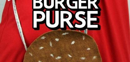 DIY Burger Purse Tutorial (No Sew!)