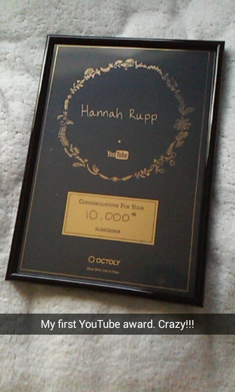 best of 2016 rewind hannah rupp youtube award 10000 subscribers octoly