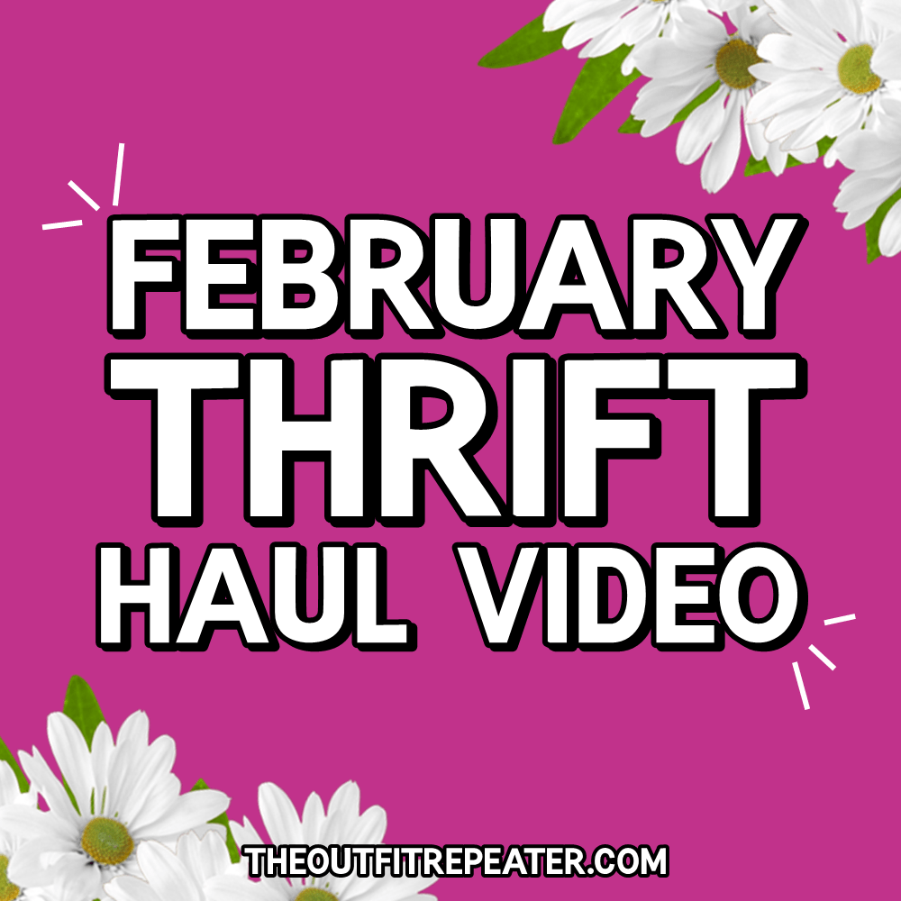 February Thrift Haul Video 2017 hannah rupp the outfit repeater
