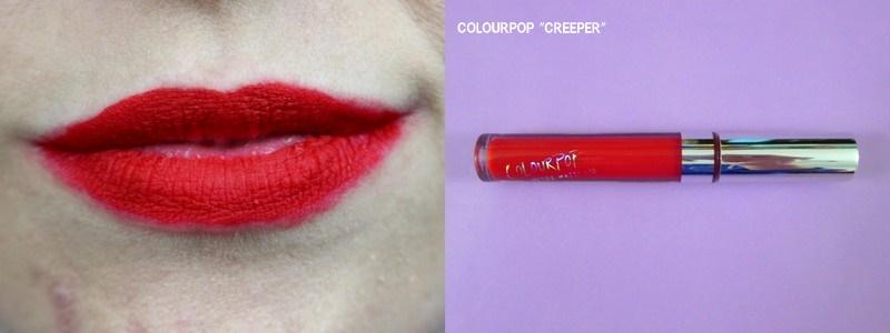 colourpop creeper red color