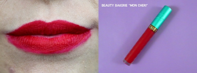 beauty bakerie lip whip mon cheri red lip color
