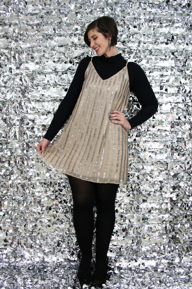 the outfit repeater hannah rupp new years eve sequin dress day to night style
