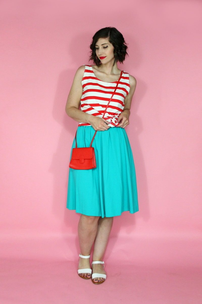 hannah rupp the outfit repeater bright neon nautical summer fashion idea