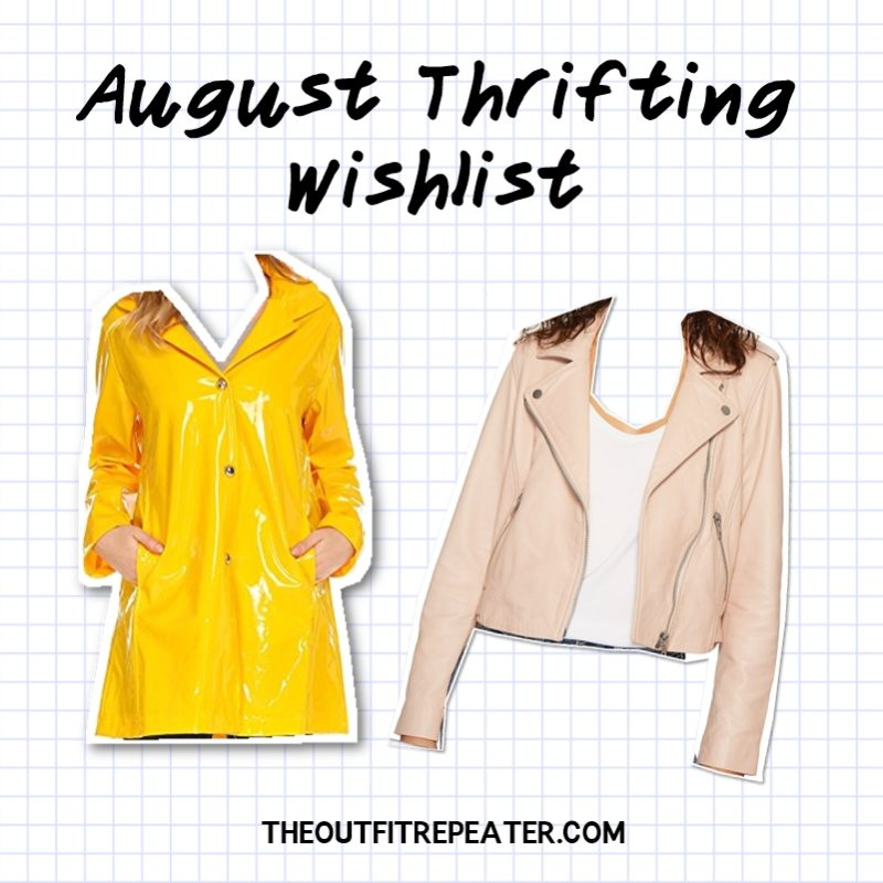 july monthly thrift haul video hannah rupp the outfit repeater thrifting wishlist