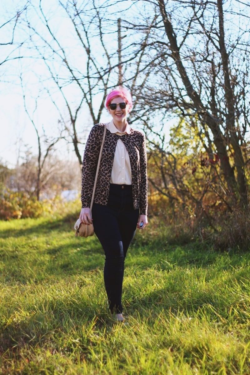 fall 2018 fashion trends in your closet vintage thrifted animal print monochrome 1980s hannah rupp the outfit repeater