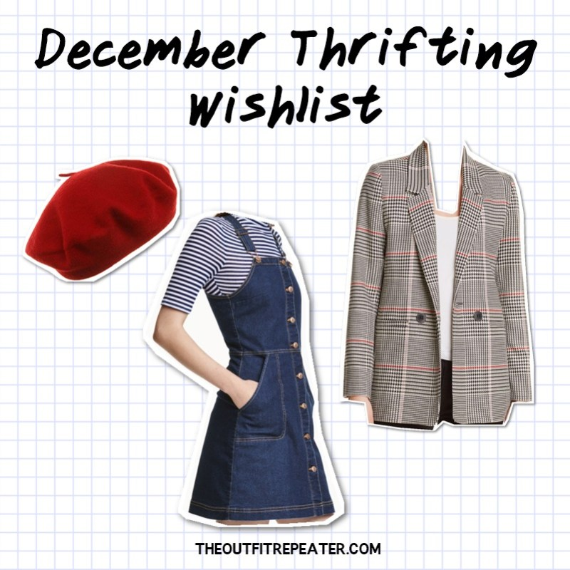 November Thrift Haul Video 2018 December thrifting wishlist hannah rupp the outfit repeater