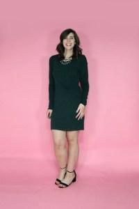 june thrift haul green dress