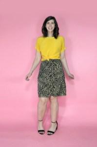 july thrift haul leopard print skirt