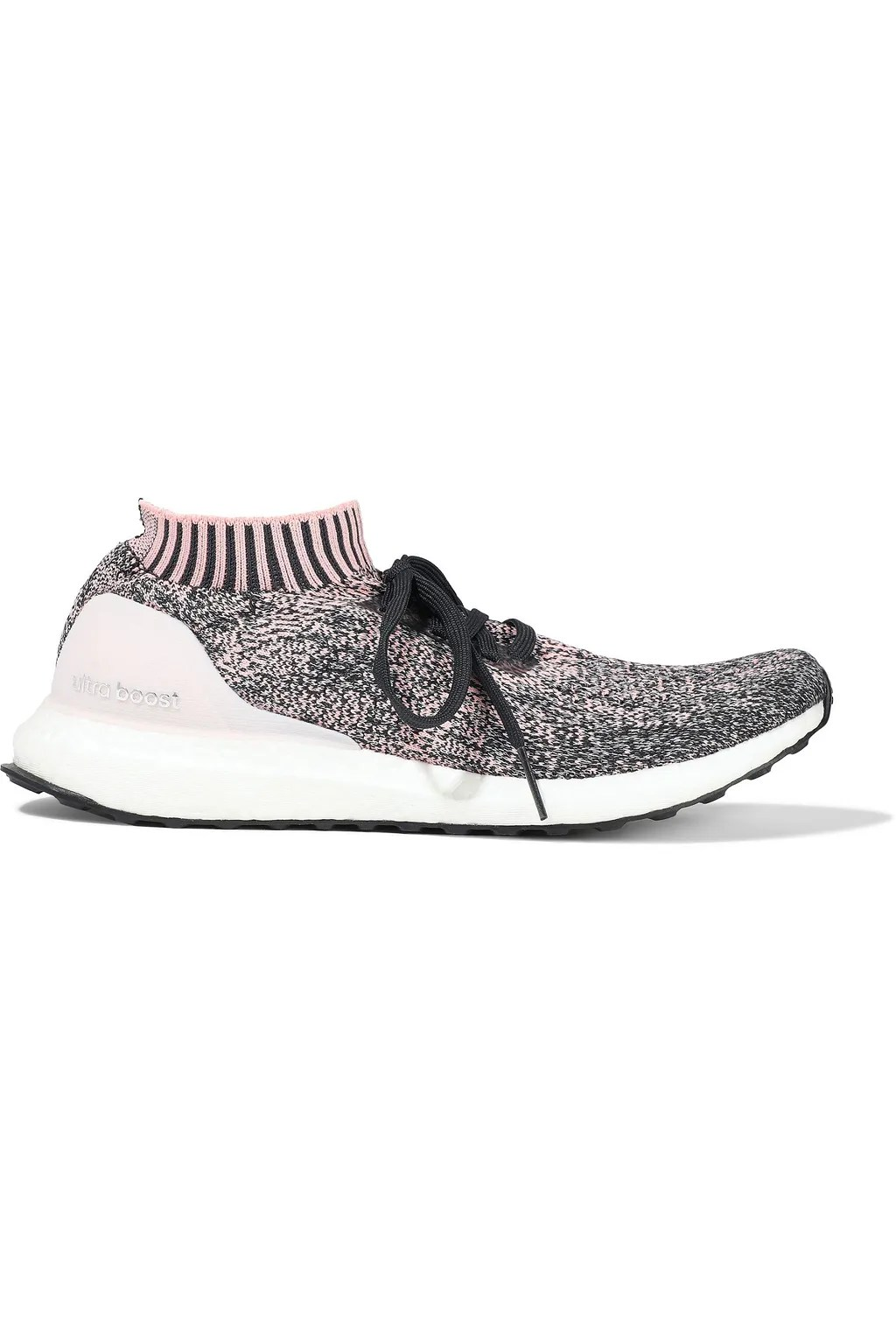 Baby pink UltraBOOST Uncaged coated marled stretch-knit
