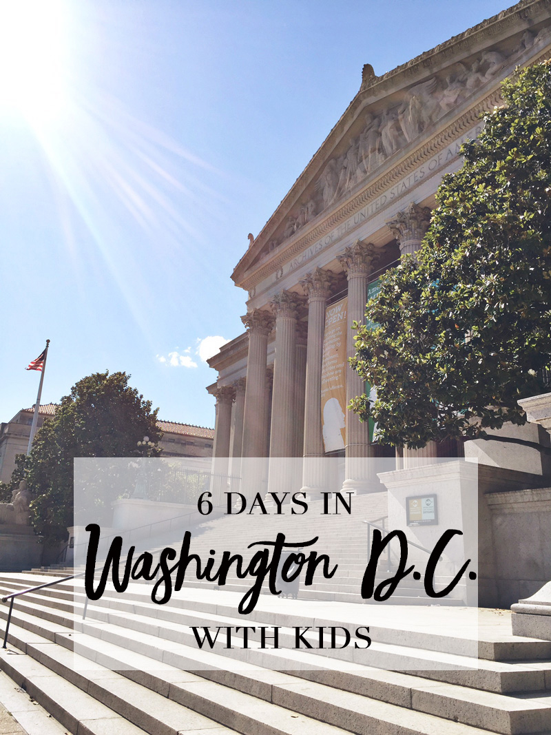 6 Days in Washington D.C. with Kids