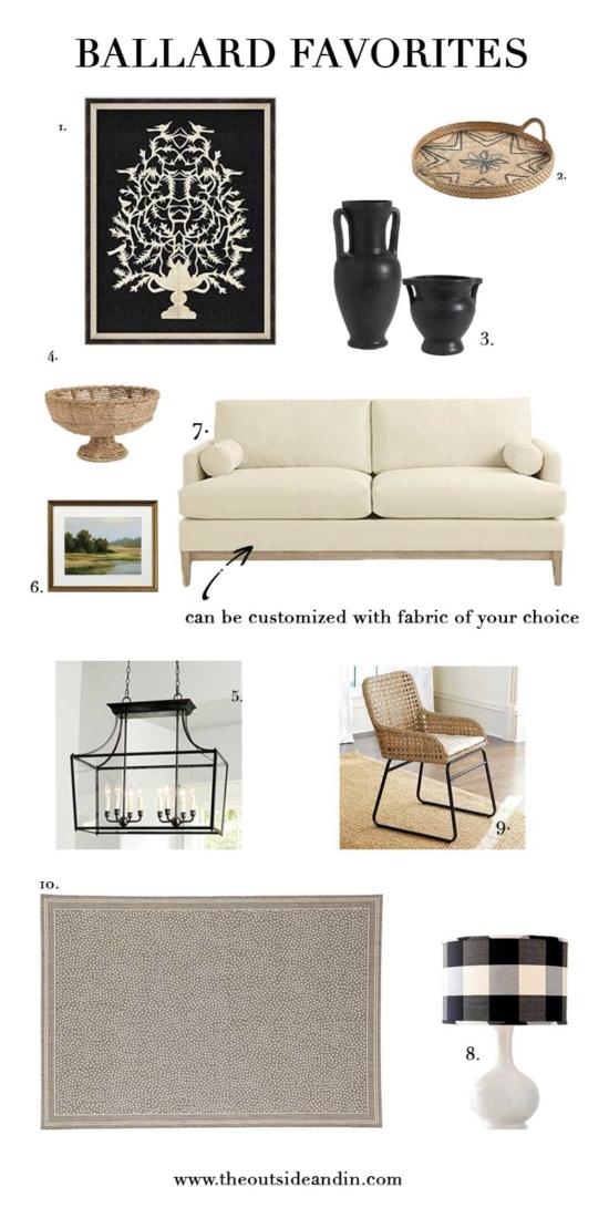 Ten Ballard Designs Favorites