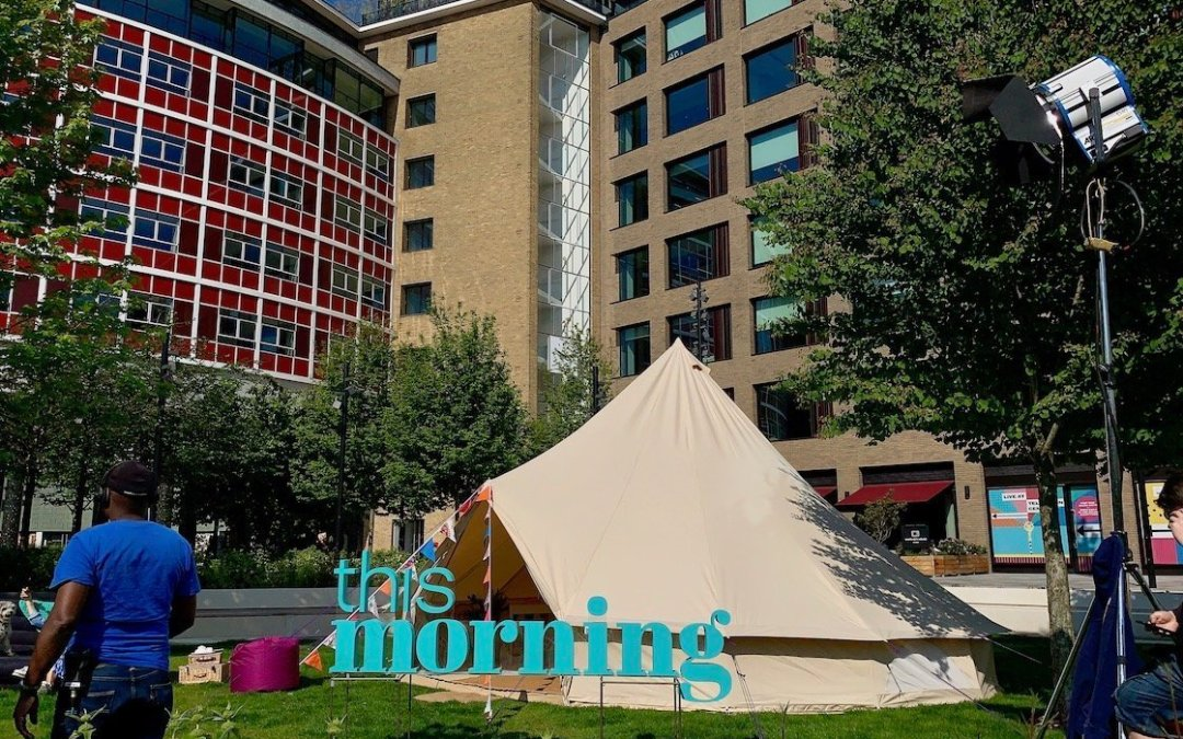 Glamping on ITVs This Morning and they wanted Baylily Bell Tents again…