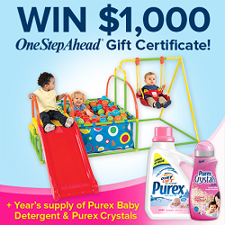 Win A $1,000 One Step Ahead GC Plus Purex Products!