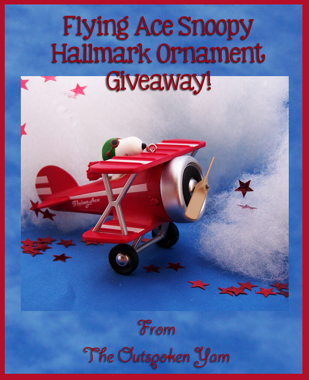 Snoopy's The Flying Ace 2015 Hallmark Ornament Giveaway