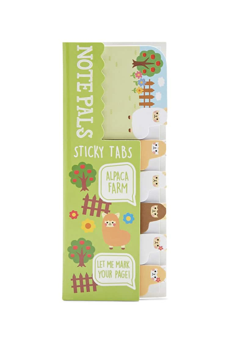 alpaca sticky notes note tabs cute stocking stuffers gift guide holiday girls teens stationery paper supplies cheap adorable ideas