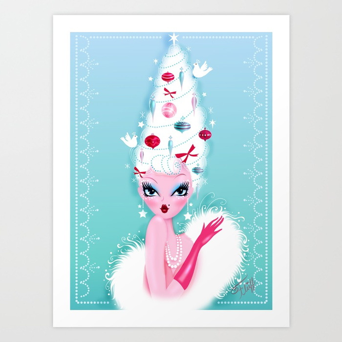 miss fluff christmas print vintage cute white pink blue prints gifts holiday gift guide pr blog blogs ideas