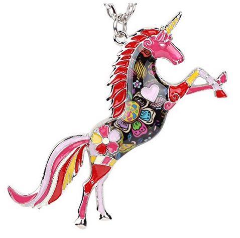 unicorn necklace fantasy jewelry blog gift guide magic pretty unusual unique