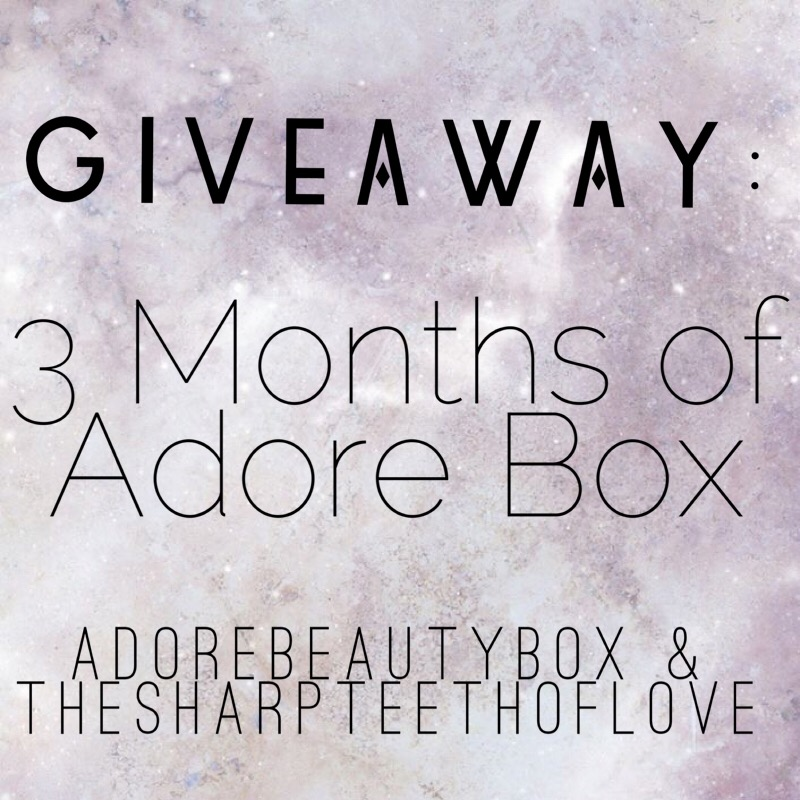 adore box adorebox beauty makeup skincare monthly box subscription giveaway 3 onths win enter instagram fun girly gifts pr friendly best eyeshadow eyeliner lipgloss makeup treats pretty new brands releases masks cream sunglasses blush mascara lipstick