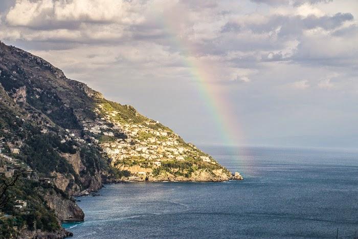 Rainbow in Positano, Almalfi Coast, Italy