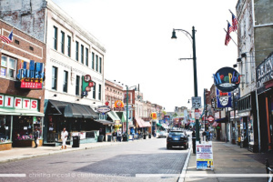 Beale Street in Memphis, Tennessee by Christina McCall