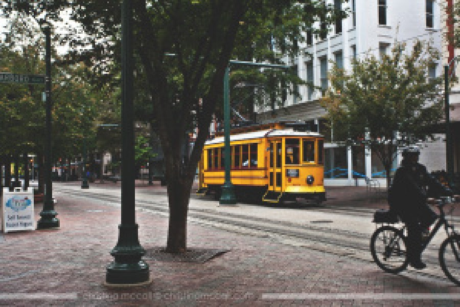 Main Street Trolley in Memphis, Tennessee by Christina McCall