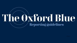 The Oxford Blue logo and the text title of the guidlines published below, 'Reporting Guidelines'